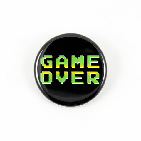 Game Over | Pinback Button