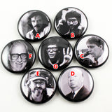 Icons of Horror / Directors Series 1 | 1 Inch Pinback Buttons
