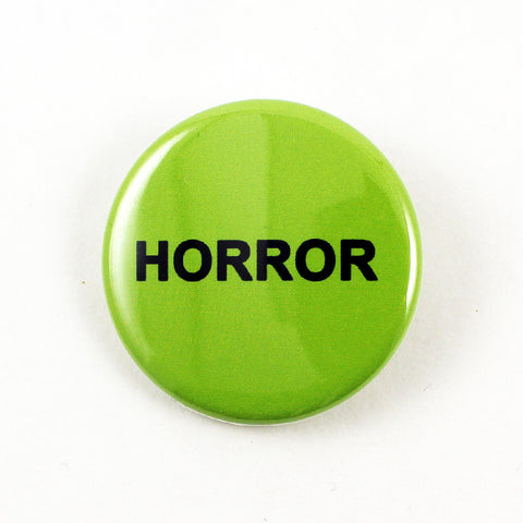 "Horror VHS Sticker | 1 1/4"" Pinback Button"