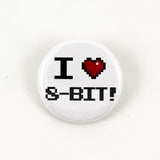 I Love 8-Bit! | Pinback Button