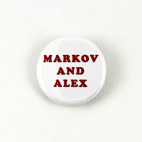 Markov and Alex | MST3K Carnival Magic Pinback Button