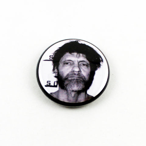 Unabomber Ted Kaczynski Mug Shot | 1 Inch Pinback Button | Serial Killer