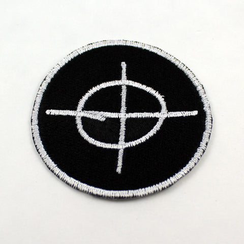 Zodiac Killer Crosshair Symbol | 3 Inch Patch | Fully Embroidered