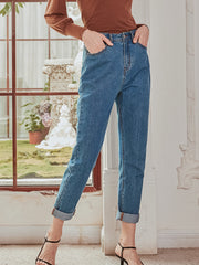 Berenice Cotton Jeans - Light Blue