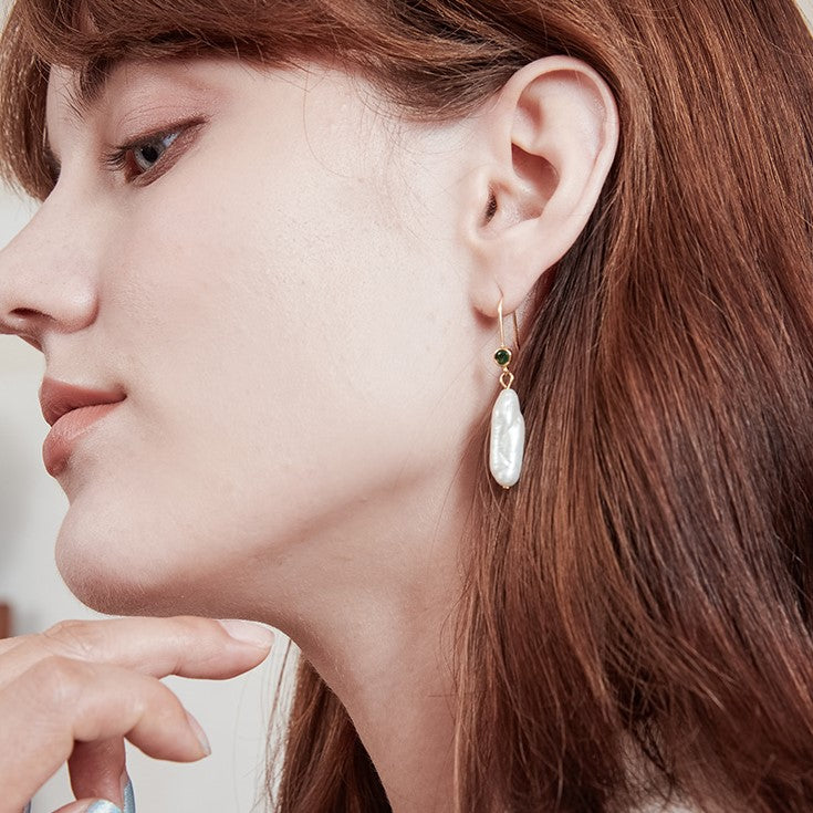 Lydia Baroque Pearl Earring