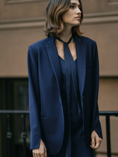 Alondra Peak Lapel Jacket/SIMPLE RETRO/55006