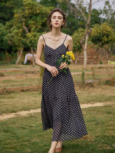 Beth Polka Dot Slip Dress/Simple Retro/11209
