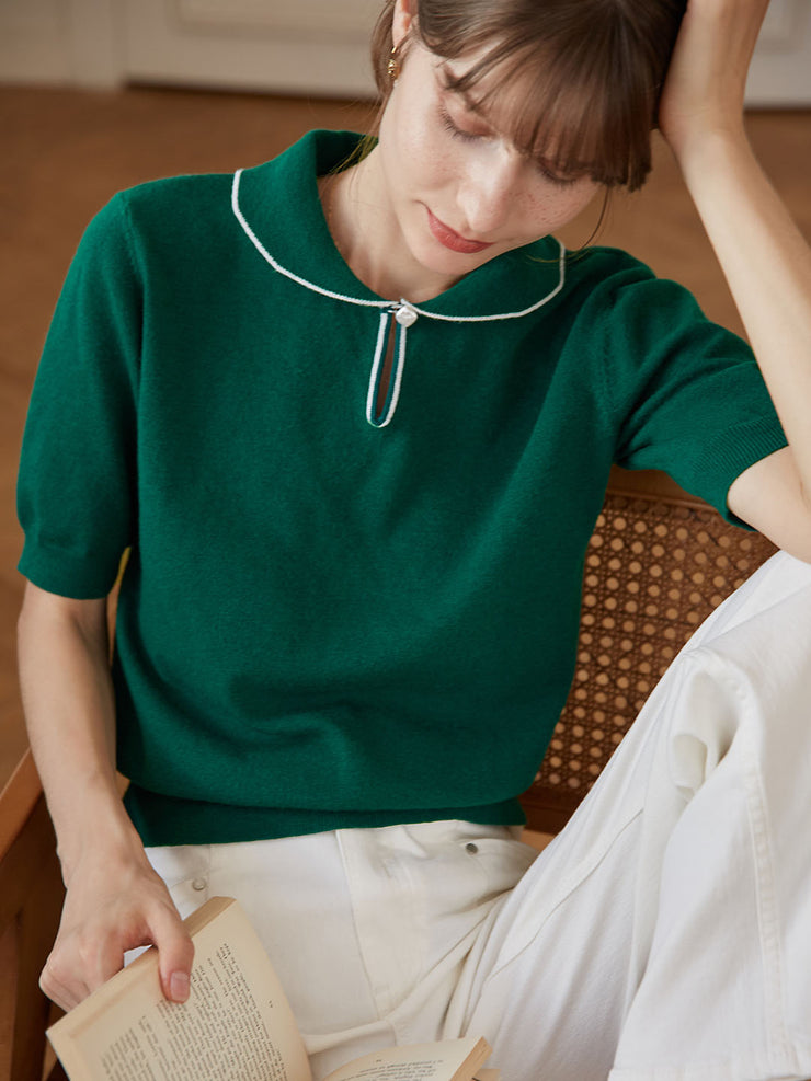 Jannie Wool Jumper - Vintage Green