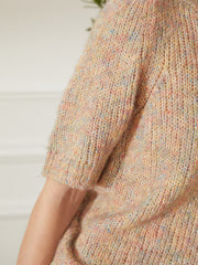 Amy Puff Sleeve Jumper- Colorful Apricot