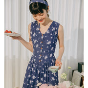 Nora Printed Chiffon Dress