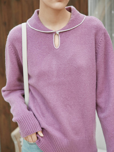 Gita Knitwear/simple retro/11525