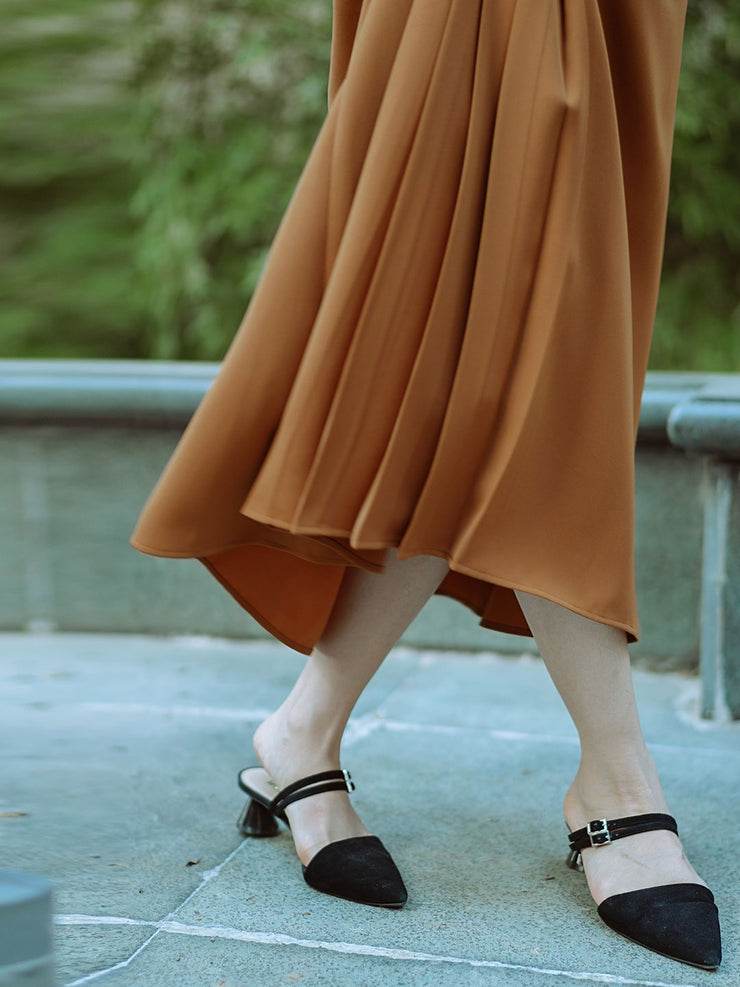 Hana Chiffon Skirt/Simple Retro/11164