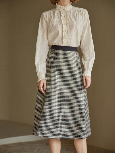 Dawn Houndstooth Skirt/Simple Retro/22145