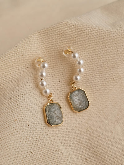 Zircon Earrings/Simple Retro/33271