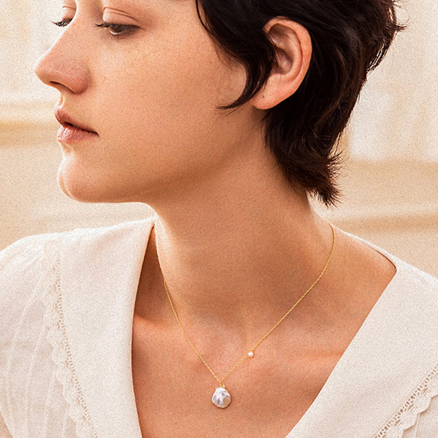 Pearl Shaped Baroque Clavicle Chain