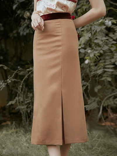 Zoey Maxi Skirt/Simple Retro/11183