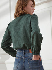 Tobey Dark Green Blouse