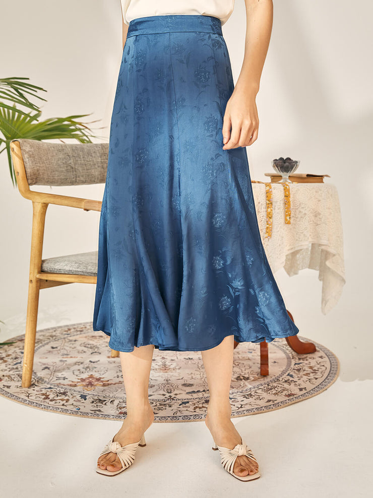 Faith  Blue High Waist Skirt