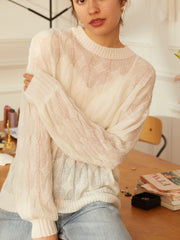 Joan Casual Sweater-White (Free Size)