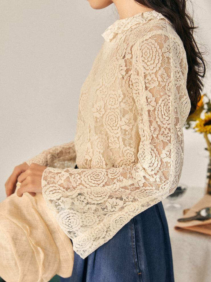 Jennifer Delicate Lace Blouse