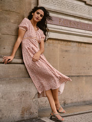 Louna Floral Dress-Pink Rose