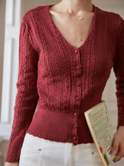 Emma Knitting Cardigan - 8 Colors