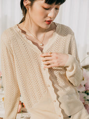 Sabina Icy Silk Cardigan