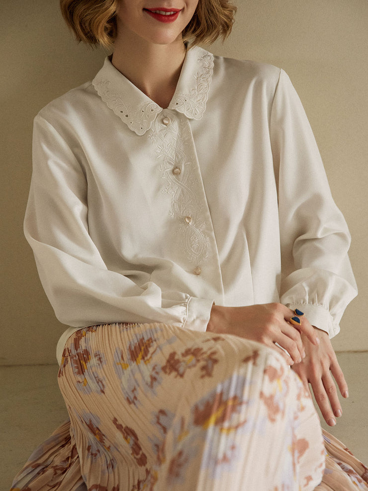 Rochelle Chiffon Blouse/Simple Retro/22135