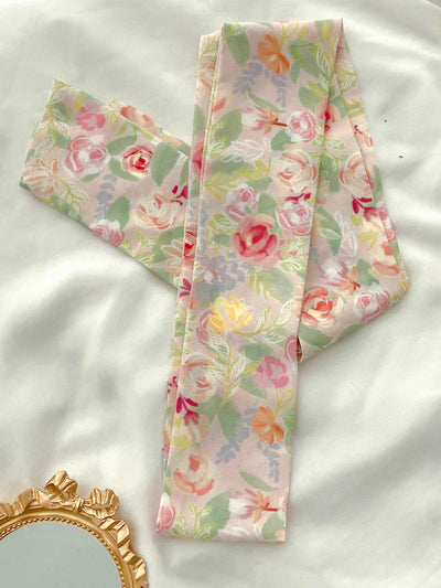 Rosa multiflora Floral Long Scarf/Simple Retro/33329