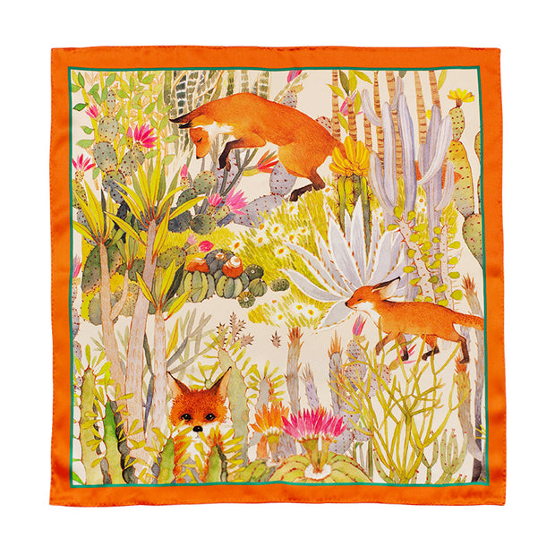 Chowxiaodou 16 Momme Fox Silk Satin Small Square Scarf 50*50