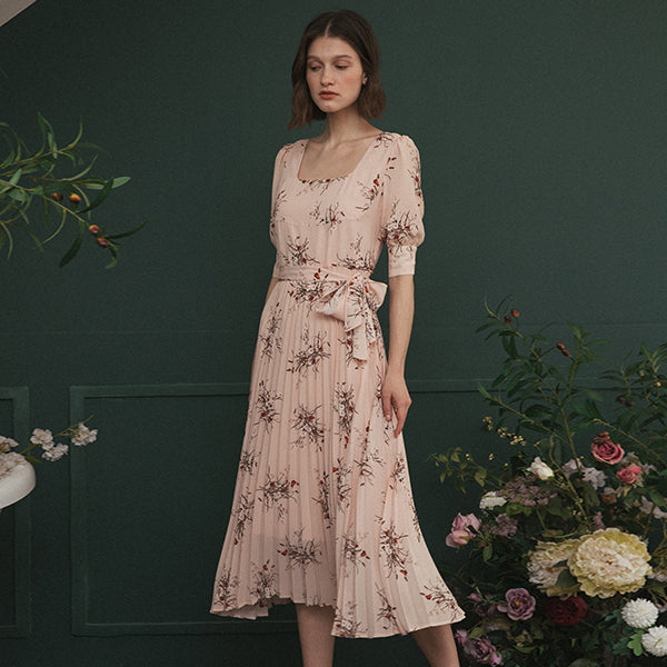 Zoe Printed Chiffon Dress