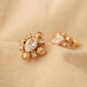 Vintage Zircon Earrings