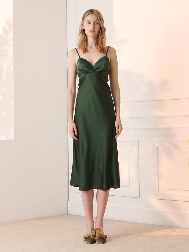 Diane V-Neck Satin Slip Dress