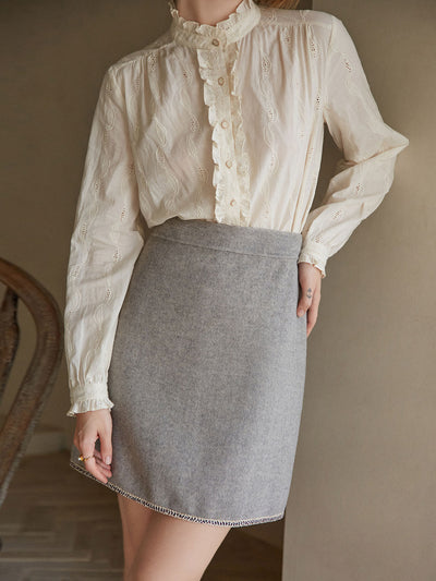 Hedy Wool Skirt/Simple Retro/22143