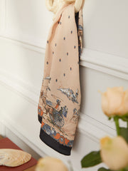 Emily Retro Small Square Scarf 65*65