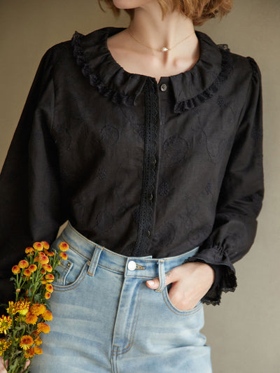 Malinda Blouse/Simple Retro/22136