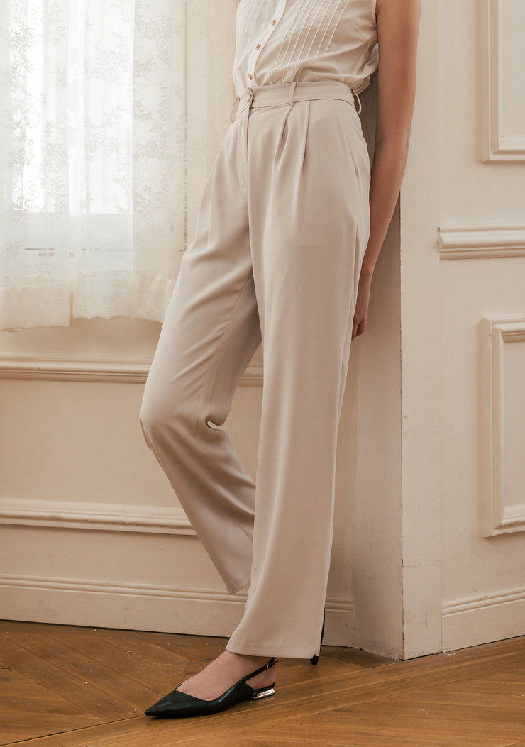Beatrice Casual Trousers-Ivory