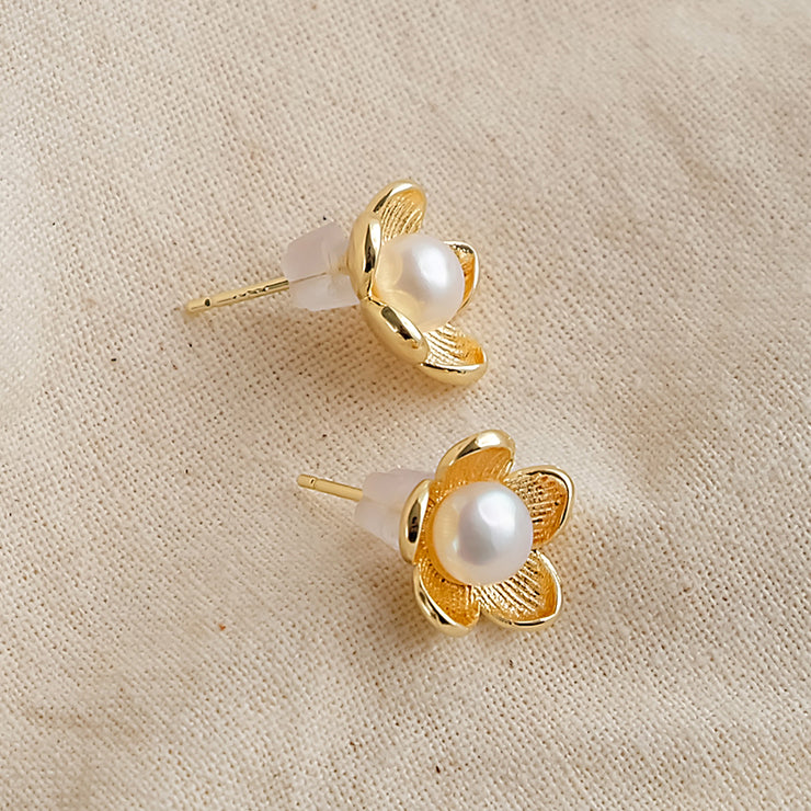 Pearl Petal Earrings