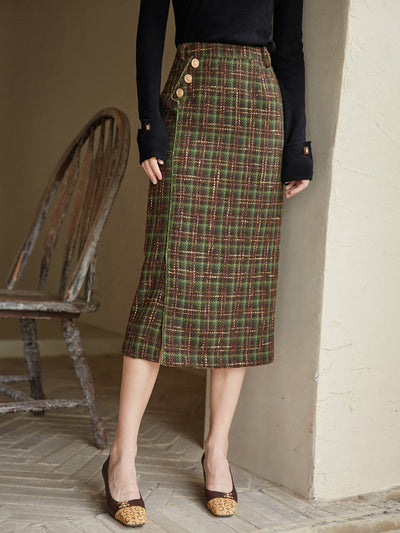 Gladys Tweed Skirt/Simple Retro/11155