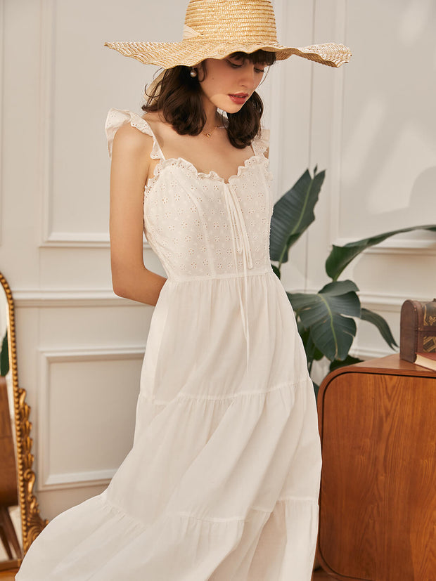 Kate Embroidered Slip Dress