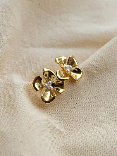 Retro Flower Earrings/Simple Retro/33729