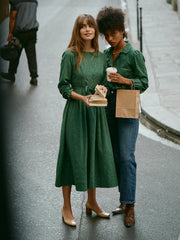 Lorraine Dark Green Long Sleeve Dress
