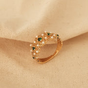 Emerald Zircon Ring