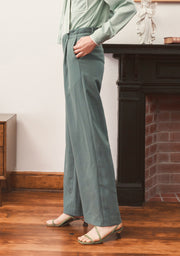 Beryl Suits Pants-Aqua Green