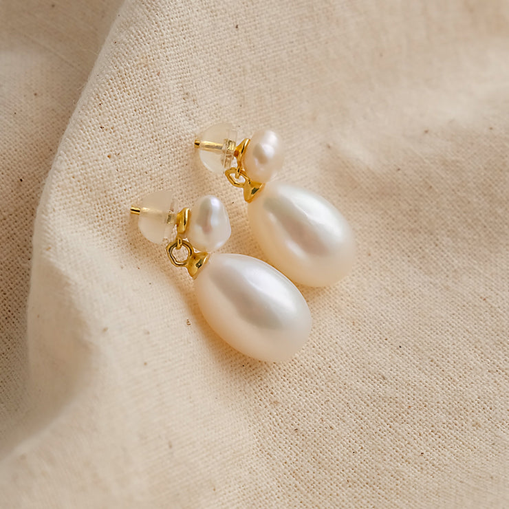 French Baroque pearl Earrings