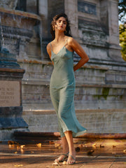 Miranda Satin Slip Dress