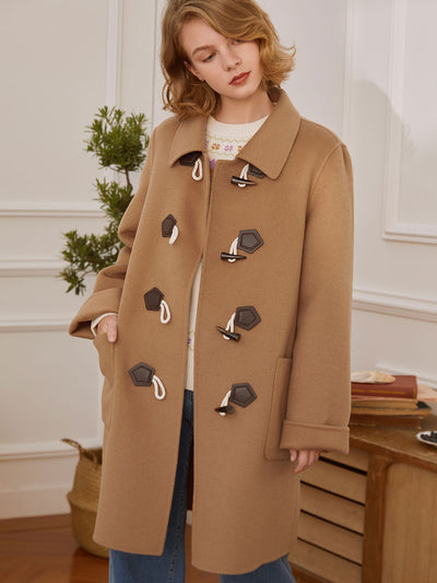 Winifred 100% Wool Coat/Simple Retro/22115