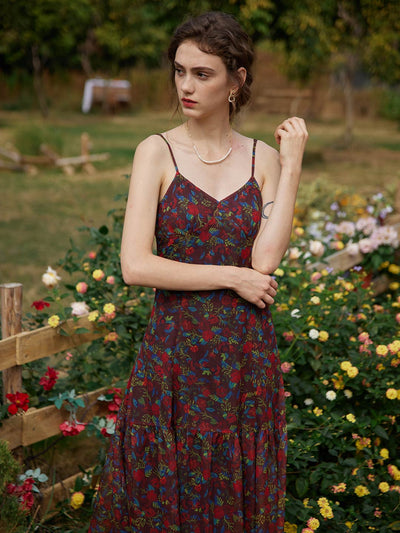 Beth Floral Printed Slip Dress/Simple Retro/11209