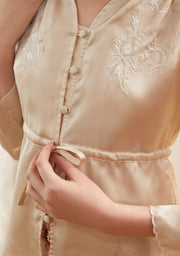 Isabelle Satin Embroidery Shirt