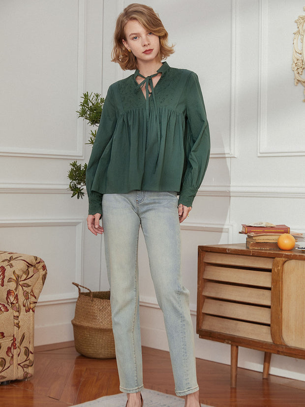 Tracy Dark Green Blouse